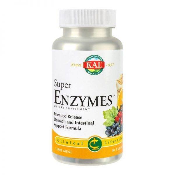 Super Enzymes - 30 capsule cu eliberare prelungita